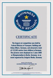 guinness world records certificate 2008