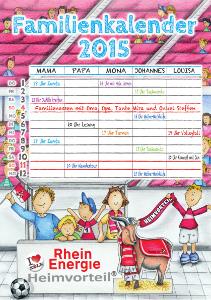 RheinEnergie Familienkalender 2015 Cover